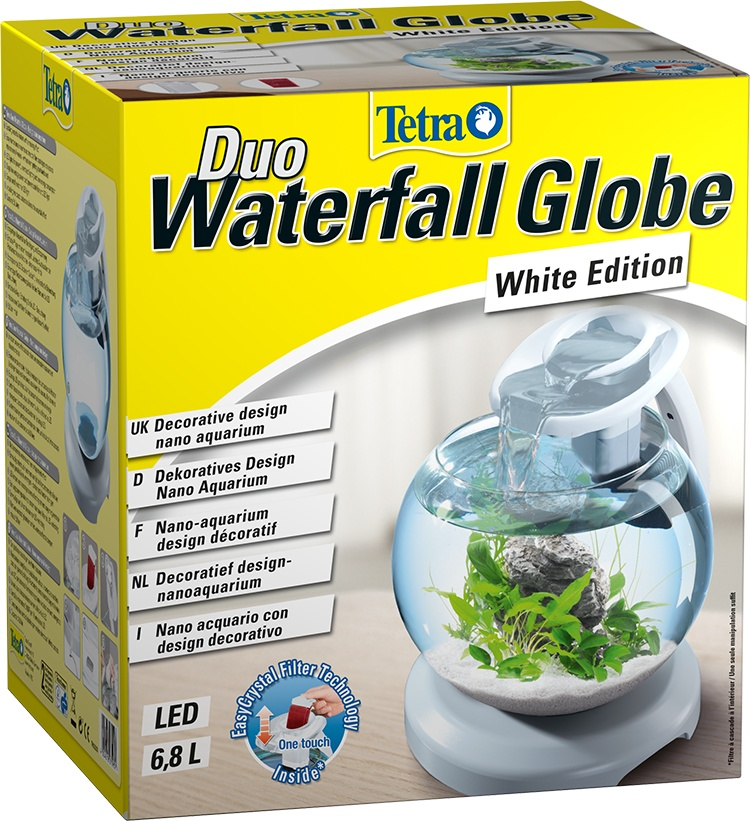 Аквариум -Tetra Cascade Globe Duo Waterfall white, 6.8 литров