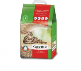 Древесный наполнитель для кошачьего туалета - Cat's Best Oko Plus цемент., 8,6 кг
