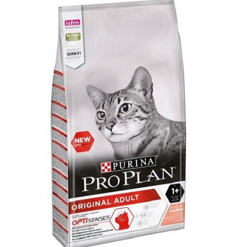 Barība kaķiem - Pro Plan ORIGINAL Cat Salmon SENSES, 1.5 kg