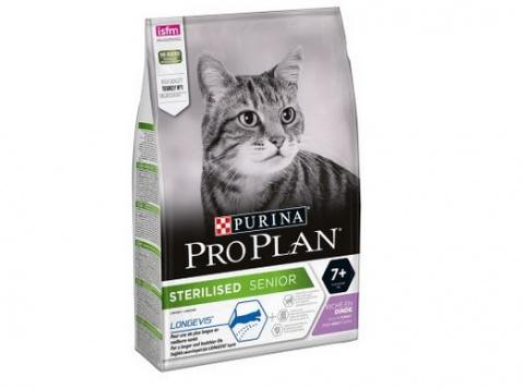 Корм для кошек - Pro Plan STERILISED Cat 7+ Turkey LONGEVIS, 1.5 кг