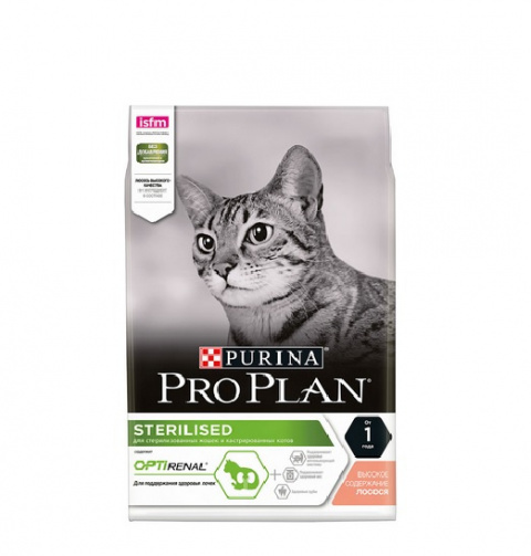 Корм для кошек - Pro Plan STERILISED Cat Salmon RENAL, 1.5 кг