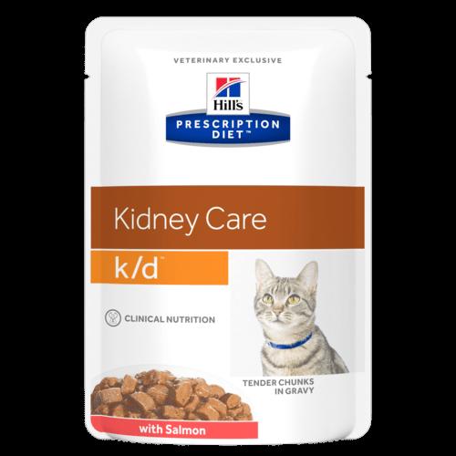 Ветеринарные консервы для кошек - Hill's Feline k/d salmon, 85 г