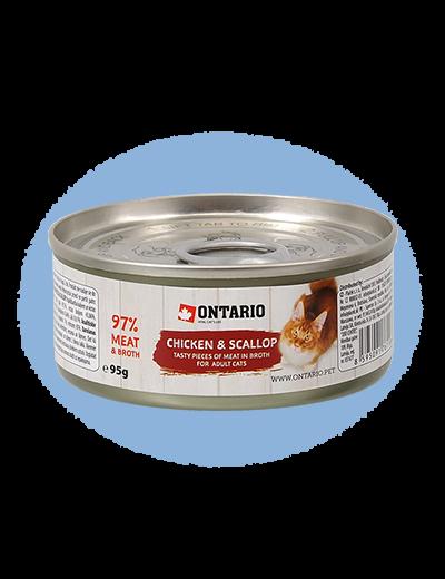 ONTARIO Can Chicken Pieces + Scallop 95g