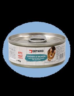 ONTARIO Can Chicken Pieces + Salmon 95g