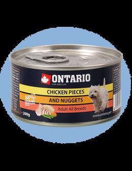Konservi suņiem - Ontario Adult Chicken Nuggets, 200 g
