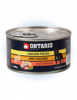 ONTARIO Can Chicken Pieces + Gizzard 200g