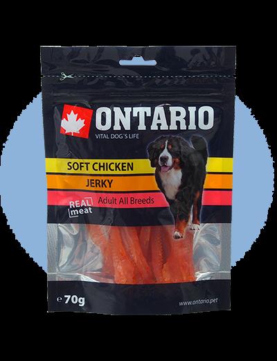 Лакомство для собак - Ontario Soft Chicken Jerky 70g