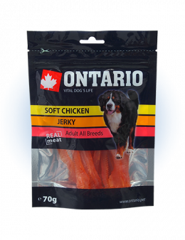 Лакомство для собак - Ontario Soft Chicken Jerky 70g