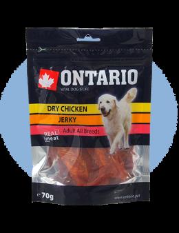 Gardums suņiem - Ontario Dry Chicken Jerky, 70 g