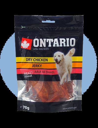 Лакомство для собак - Ontario Dry Chicken Jerky, 70 г