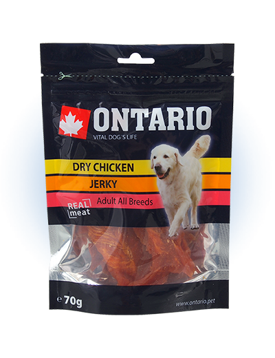 Лакомство для собак - Ontario Dry Chicken Jerky 70g