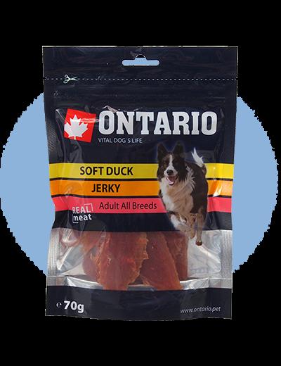 Gardums suņiem - Ontario Soft Duck Jerky, 70 g title=