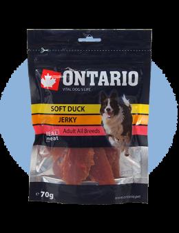 Лакомство для собак - Ontario Soft Duck Jerky, 70 г