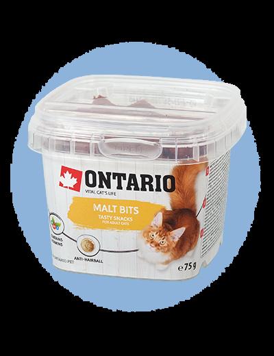 Лакомство для кошек - Ontario Malt bits, 75 g title=