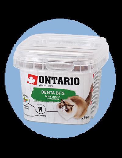 Лакомство для кошек - Ontario Dental bits, 75 г title=