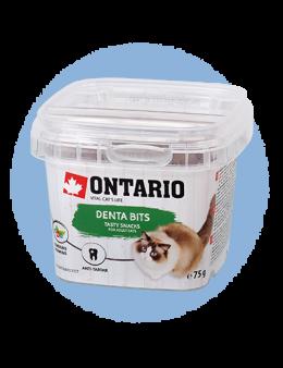 Лакомство для кошек - Ontario Dental bits 75g