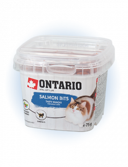 Gardums kaķiem - Ontario Salmon bits 75g