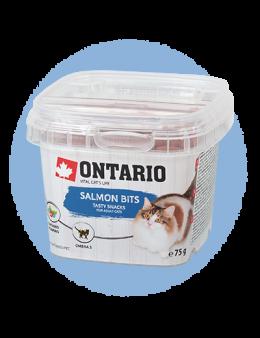 Лакомство для кошек - Ontario Salmon bits, 75 g