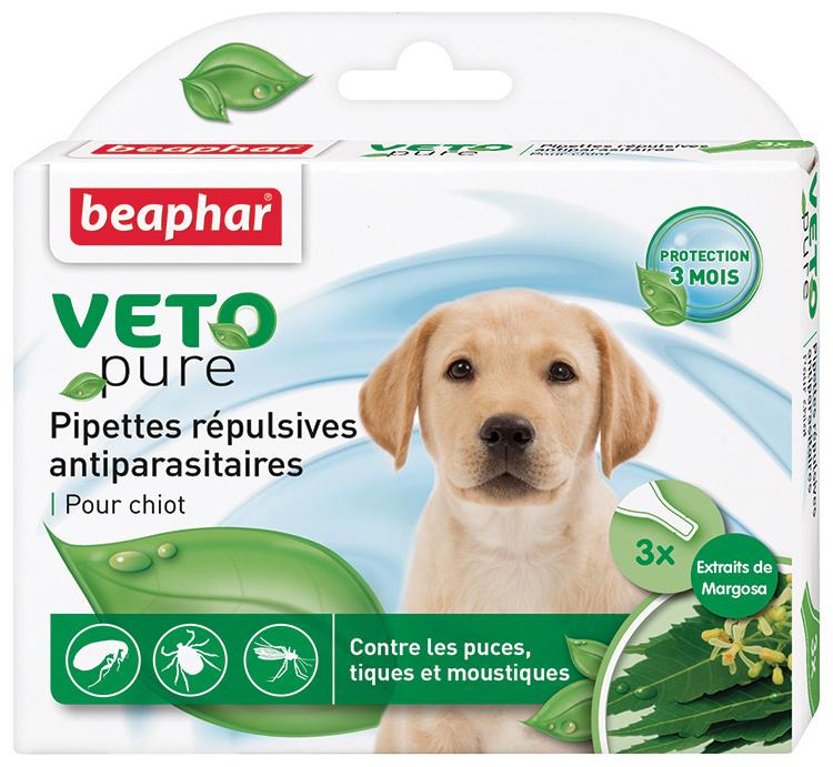 Līdzeklis pret blusām, ērcēm, odiem kucēniem - Beaphar Spot on Veto pure,  3 gab