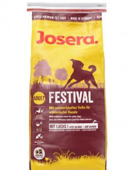Barība suņiem - Josera Adult Festival ar lasi, 15 kg