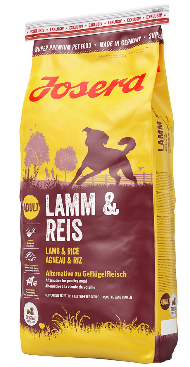 Barība suņiem - Josera Lamb and Rice, 15 kg