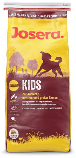 Barība kucēniem - Josera Emotion Kids (Junior Medium/Maxi) 15 kg