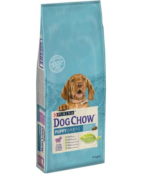 Barība kucēniem - Dog Chow Puppy ar jēru un rīsiem, 14 kg