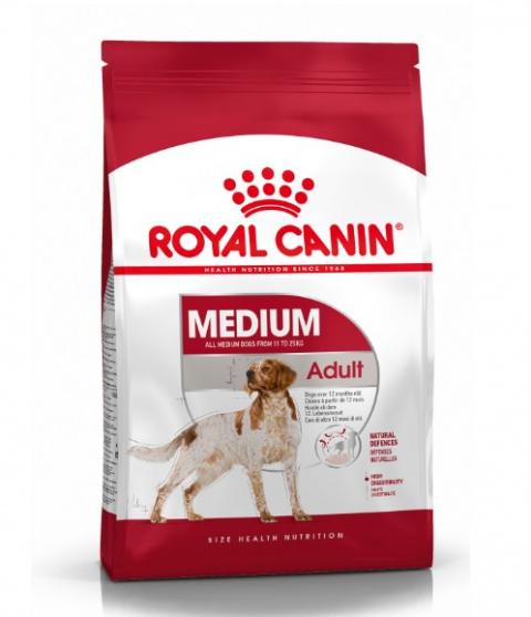 Корм для собак - Royal Canin Medium adult, 4 кг title=
