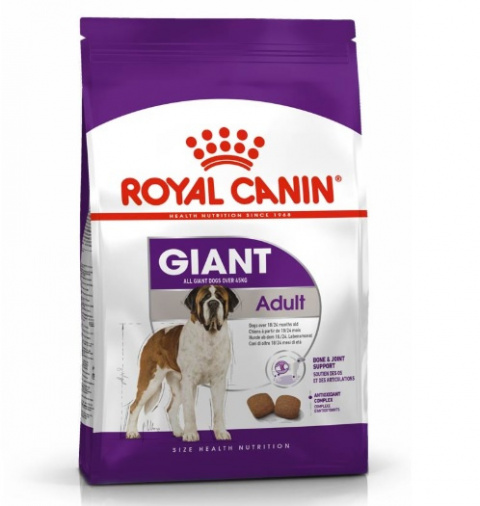Корм для собак - Royal Canin Giant Adult, 15 кг title=