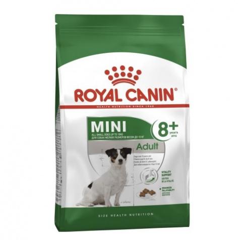 Корм для собак сеньоров - Royal Canin Mini adult 8+, 2 кг title=