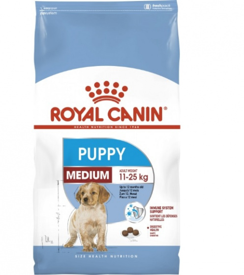 Корм для щенков - Royal Canin Medium Puppy, 15 кг