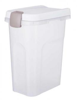 Barības uzglabāšanas konteiners – TRIXIE Feed Barrel, 15 l/22 x 41 x 33 cm, Transparent/White