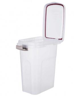 Barības uzglabāšanas konteiners – TRIXIE Feed Barrel, 25 l/24 x 51 x 39 cm, Transparent/White