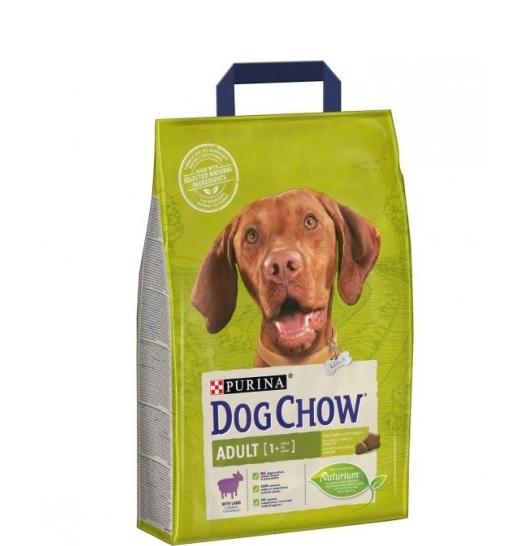 Barība suņiem - Dog Chow Adult ar jēru un rīsiem, 2,5 kg