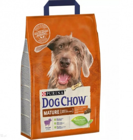 Barība suņiem senioriem - Dog Chow Mature Adult 5+, ar jēru un rīsiem, 2,5 kg
