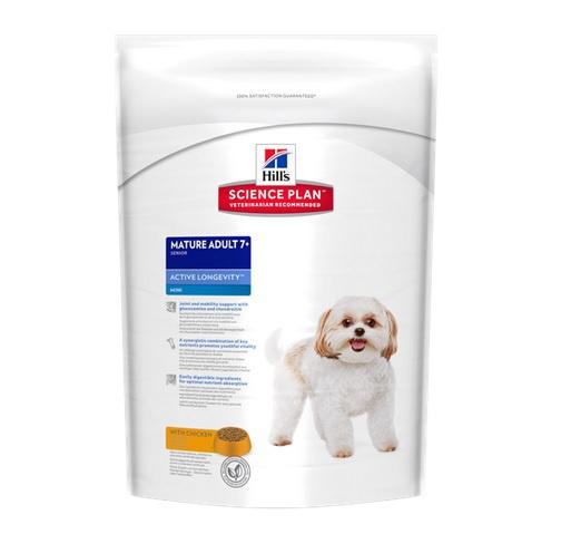 Barība suņiem senioriem - Hills Canine Mature Mini, 2.5 kg