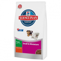 Barība kucēniem - Hills Canine Puppy Small & Miniature, chicken & turkey 0.3 kg