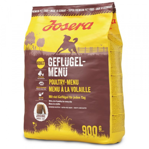 Корм для собак - Josera Adult Geflugel Menu, with poultry, 900 г