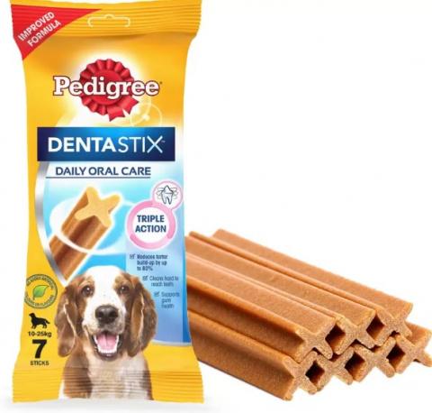 Gardums suņiem - Pedigree Dentastix 7 gb, 180 g