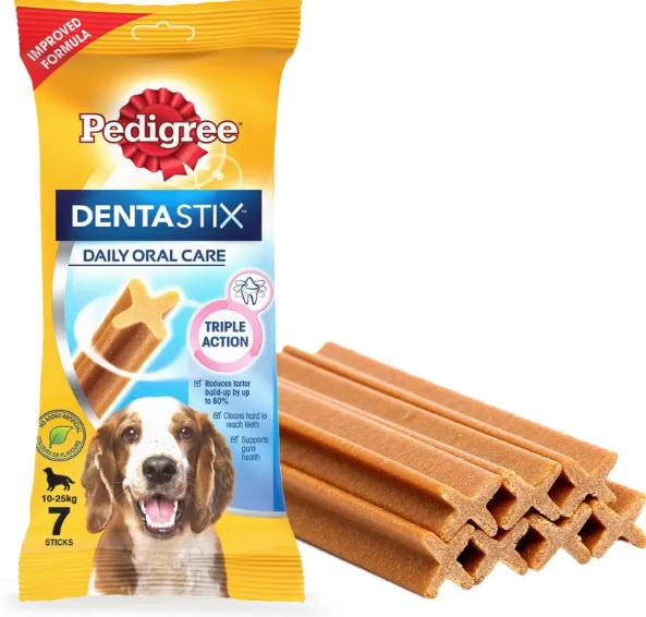 Gardums suņiem - Pedigree Dentastix 7 gb, 180 g