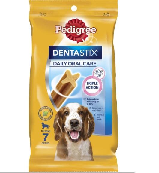 Лакомство для собак - Pedigree Dentastix 7 шт, 180 г