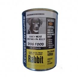 Консервы для собак - Kennels` Favourite Canned Dog, с кроликом, 400 г