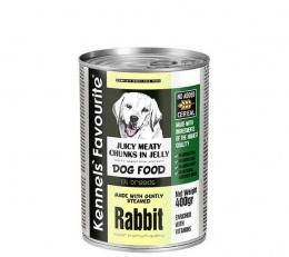 Konservi suņiem - Kennels` Favourite Canned Juicy meat Rabbit, 1200 g