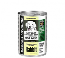 Konservi suņiem - Kennels` Favourite Canned Juicy meat Rabbit, 1200 g