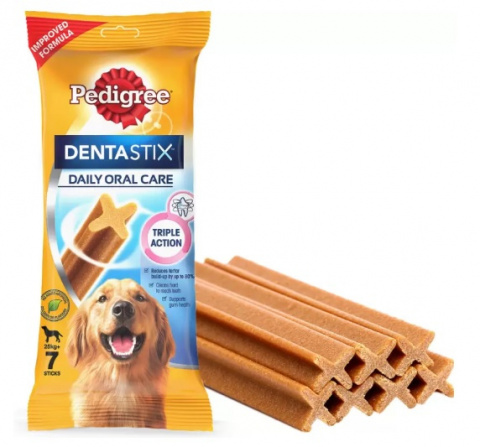 Gardums suņiem - Pedigree Dentastix Large 7 gab., 270 g title=