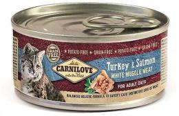Консервы для кошек - CARNILOVE Wild Meat Turkey & Salmon, 100 г
