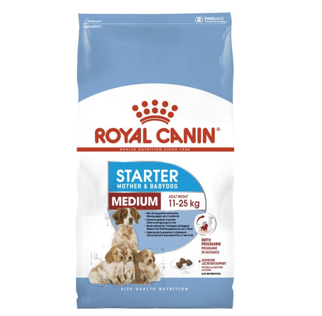 Barība suņiem - Royal Canin Starter Mother & Babydog Medium, 4 kg