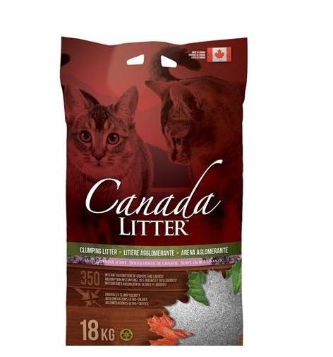 Цементирующий песок для кошачьего туалета - Canada Litter Lavender 18 кг title=