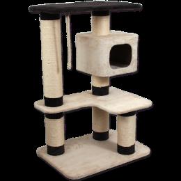 Mājiņa kaķiem - Valerie, beige/brown, 121 cm