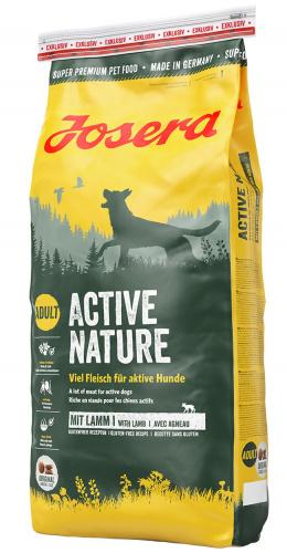 Barība aktīviem suņiem - Josera Active Nature, 15 kg